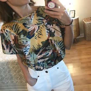 Vintage INSANELY Awesome Tropical Print Top
